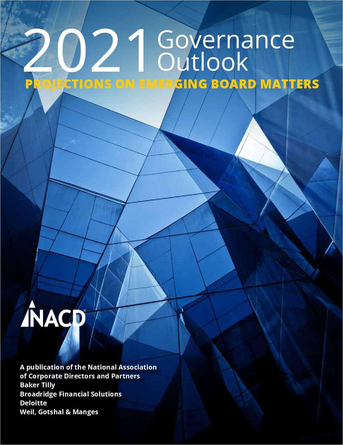 2021 Governance Outlook Report