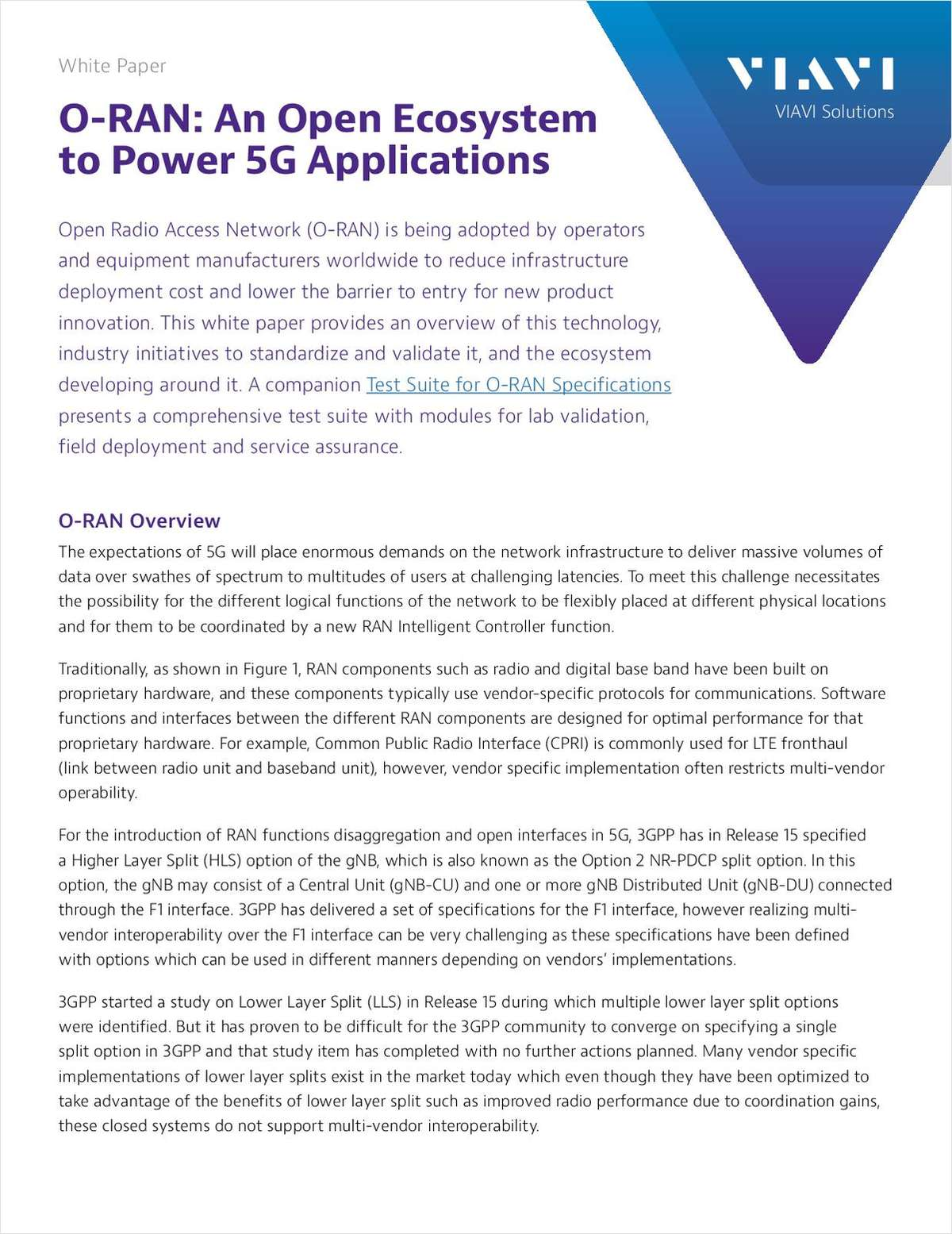 O-RAN: an Open Ecosystem to Power 5G Applications