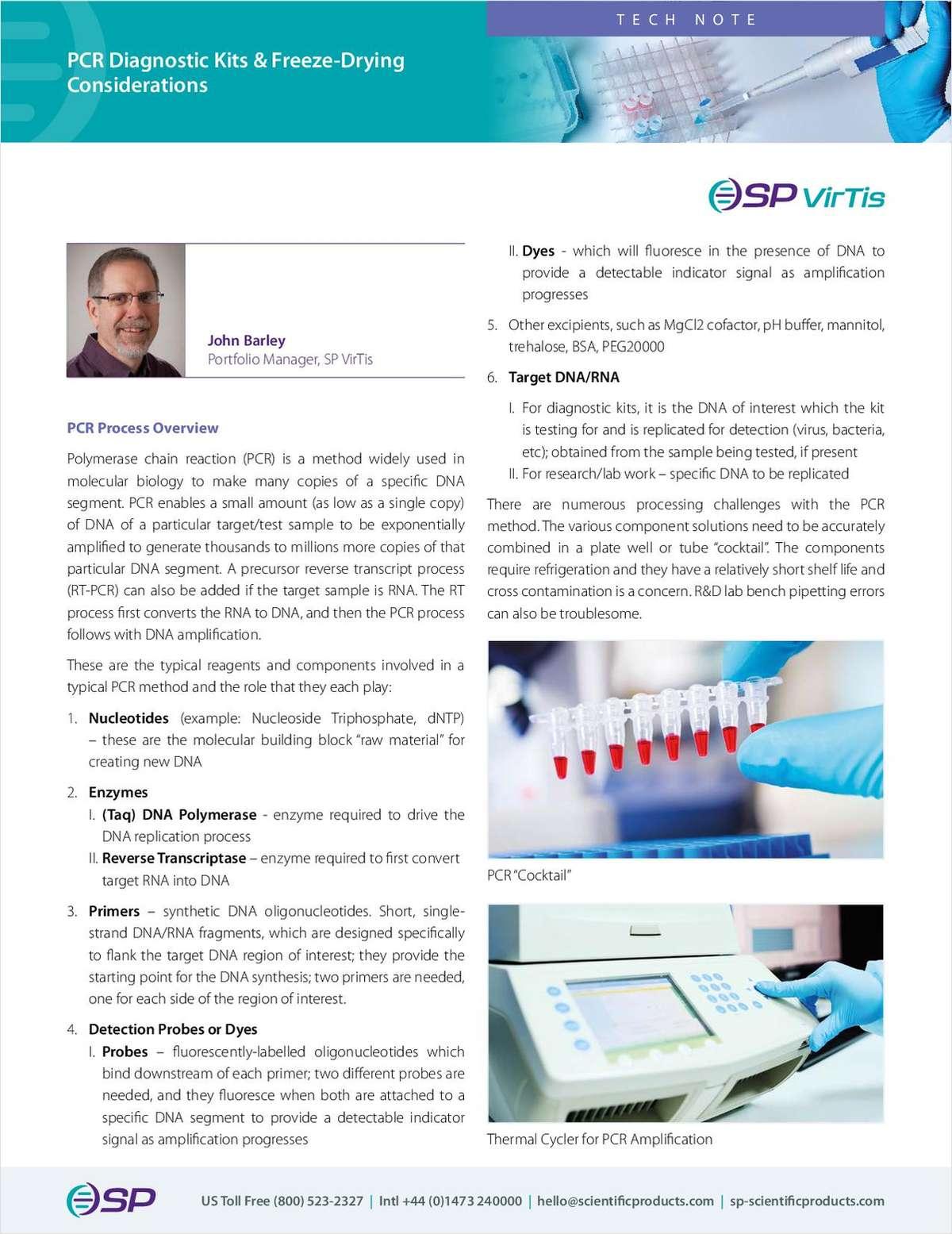 PCR Diagnostic Kits & Freeze-Drying Considerations