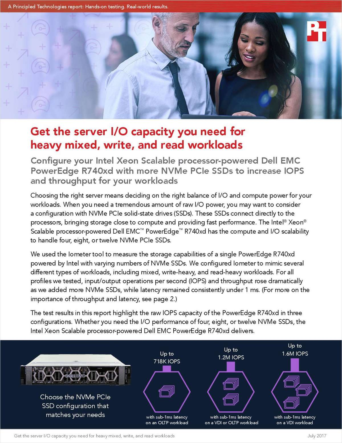 Get the Server I/O Capacity You Need for Heavy Mixed, Write and Read Workloads