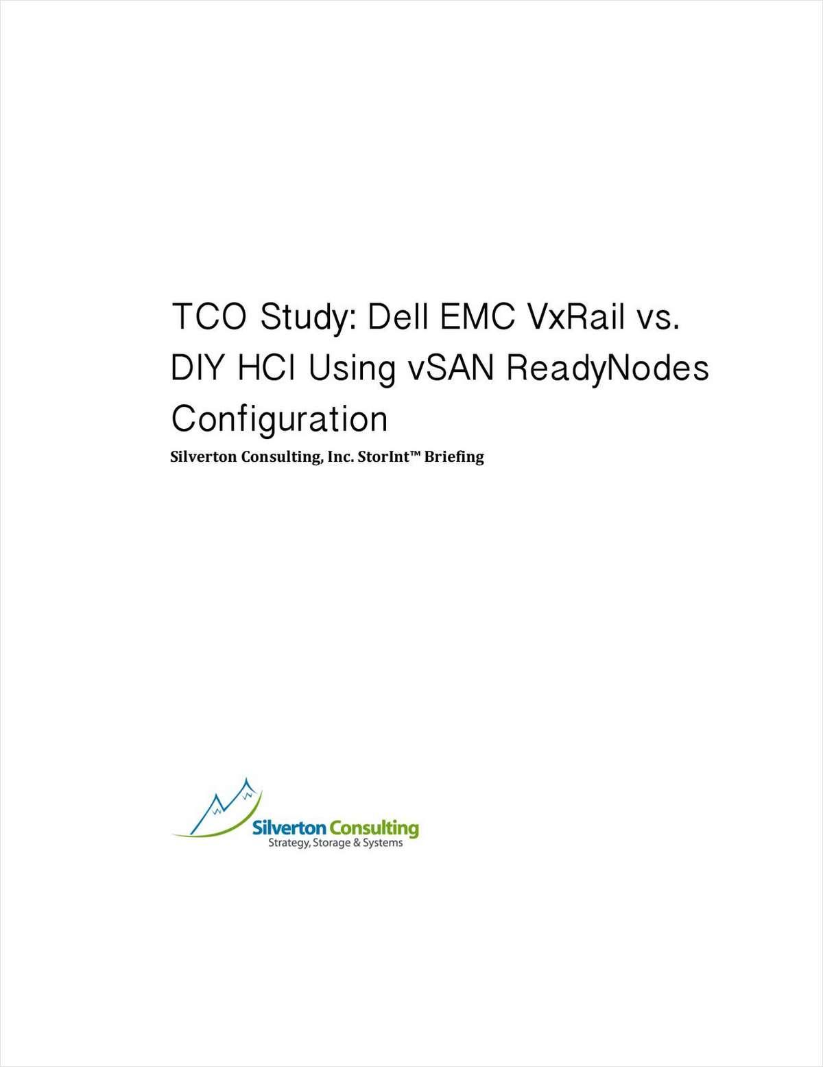 TCO Study: Dell EMC VxRail vs. DIY HCI Using vSAN Readynodes Configuration