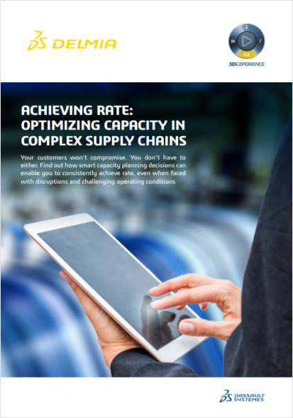 Achieving Rate: Optimizing Capacity in Complex Supply Chains
