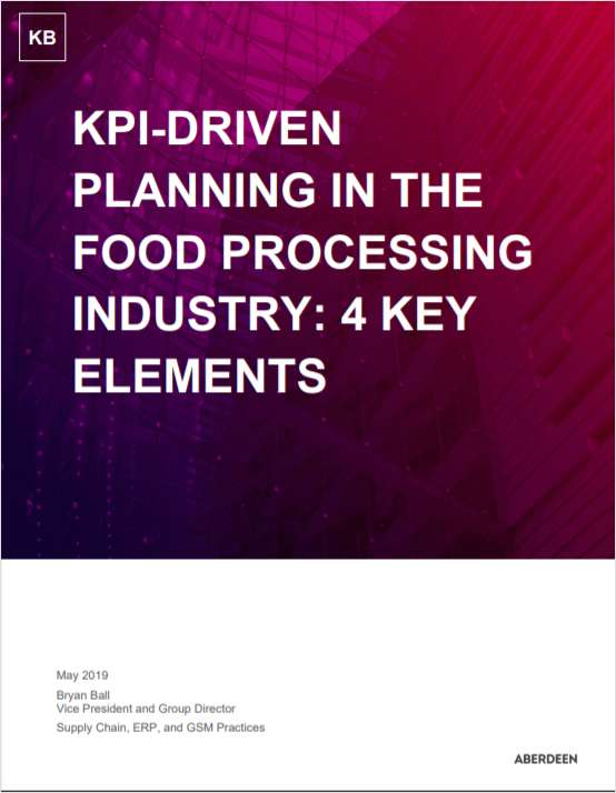 KPI-Driven Planning in the Food Processing Industry: 4 Key Elements