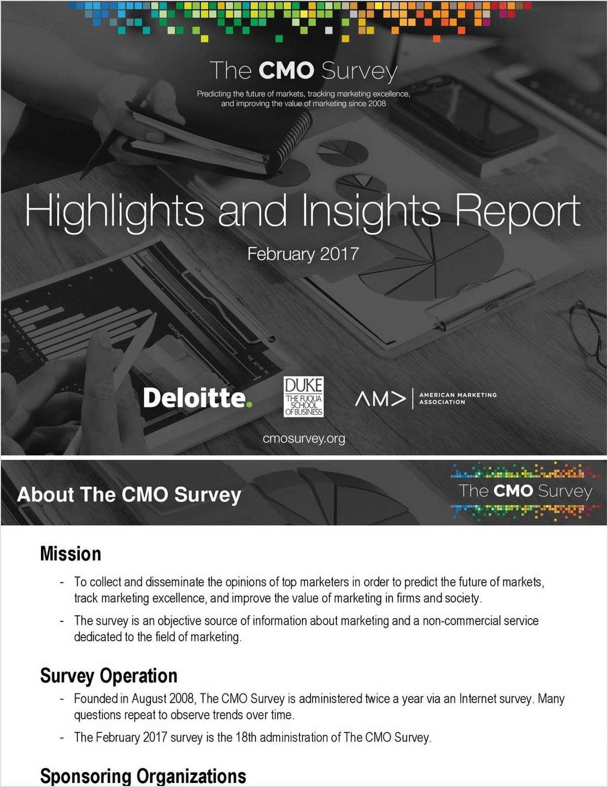 2017 CMO Survey