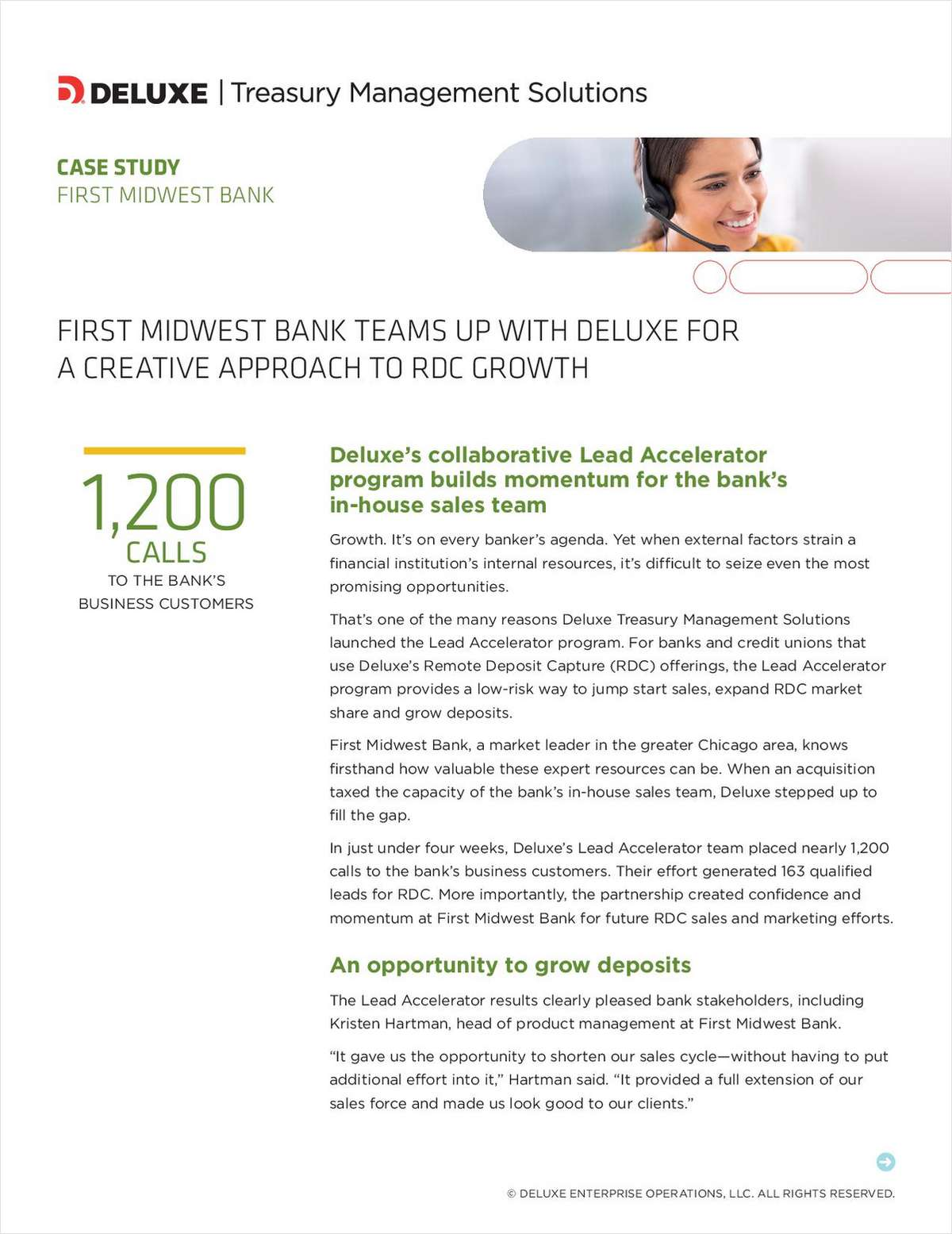 First Midwest Bank Teams Up With Deluxe for a Creative Approach to RDC Growth