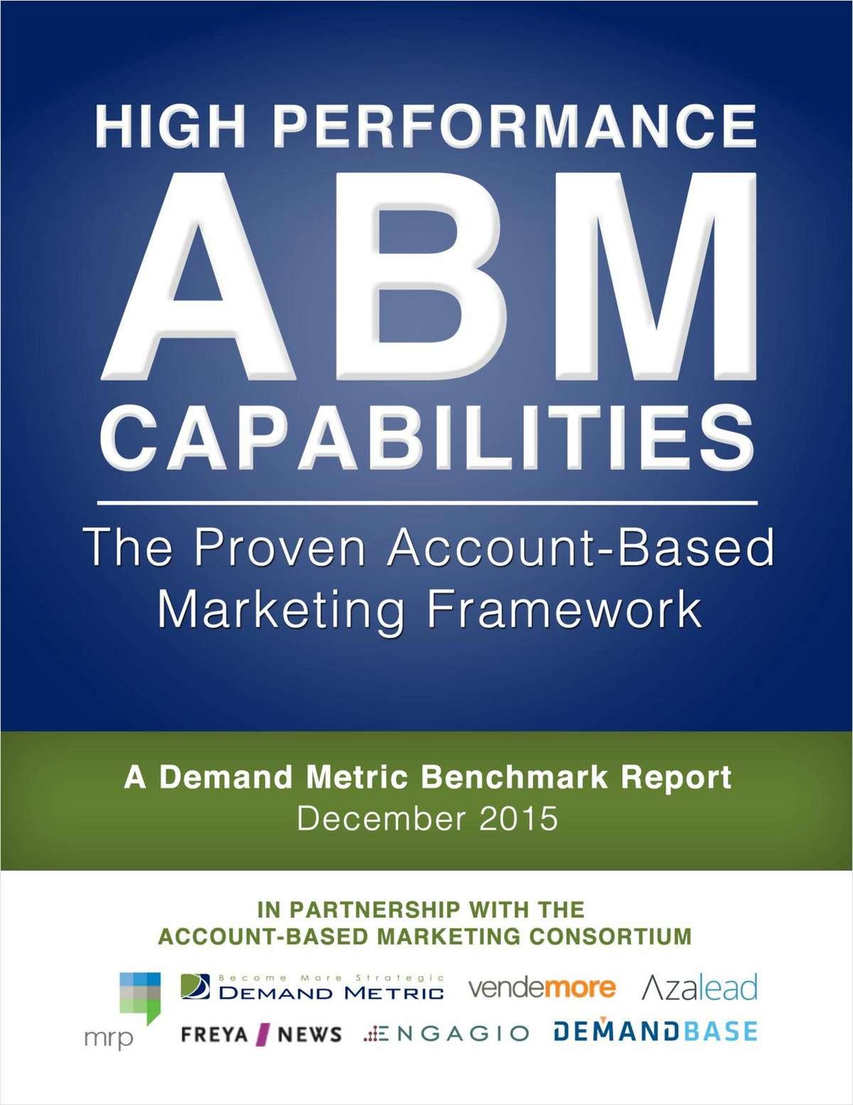 High Performance ABM Capabilities: The Proven Account-Based Marketing Framework