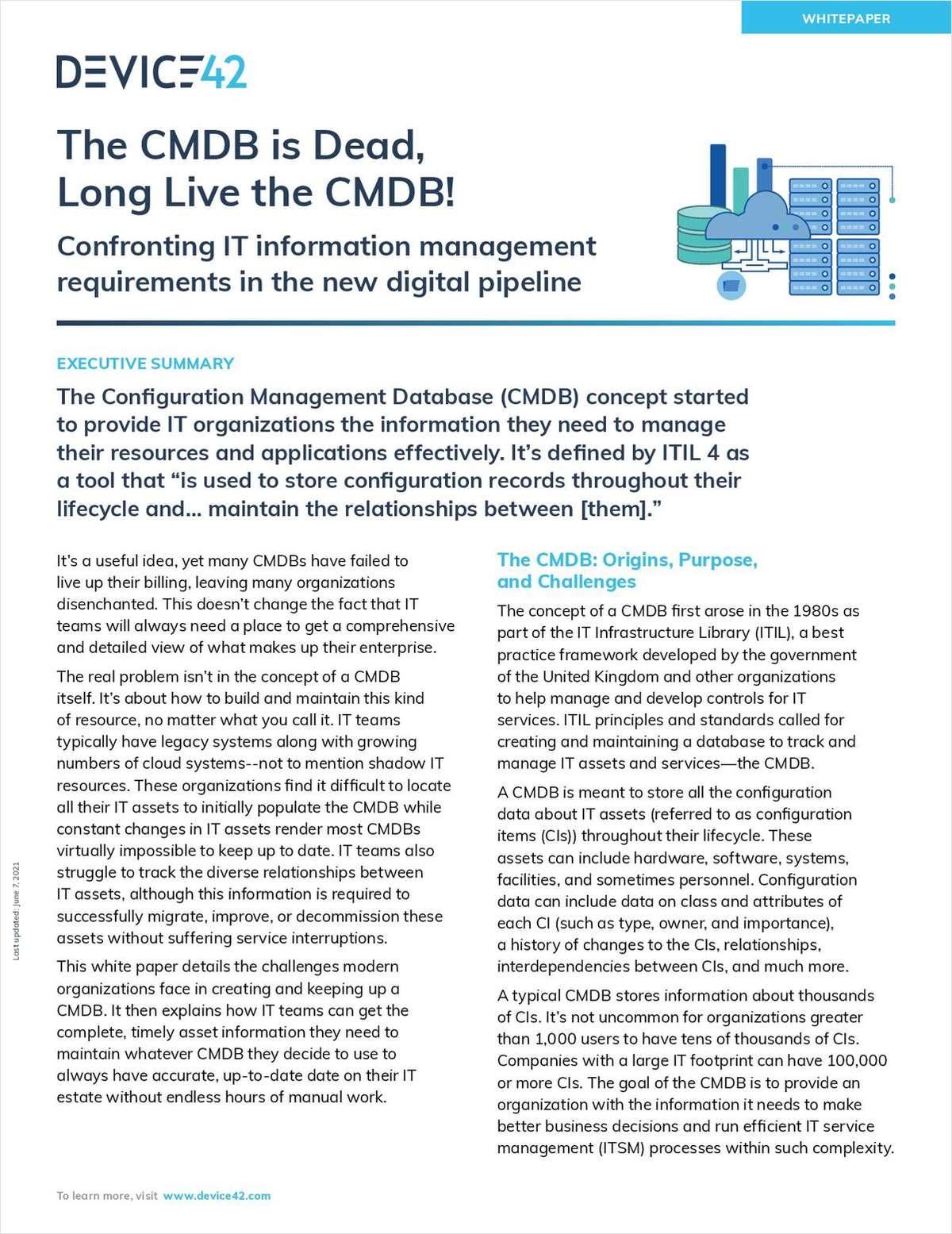 The CMDB is Dead, Long Live the CMDB!
