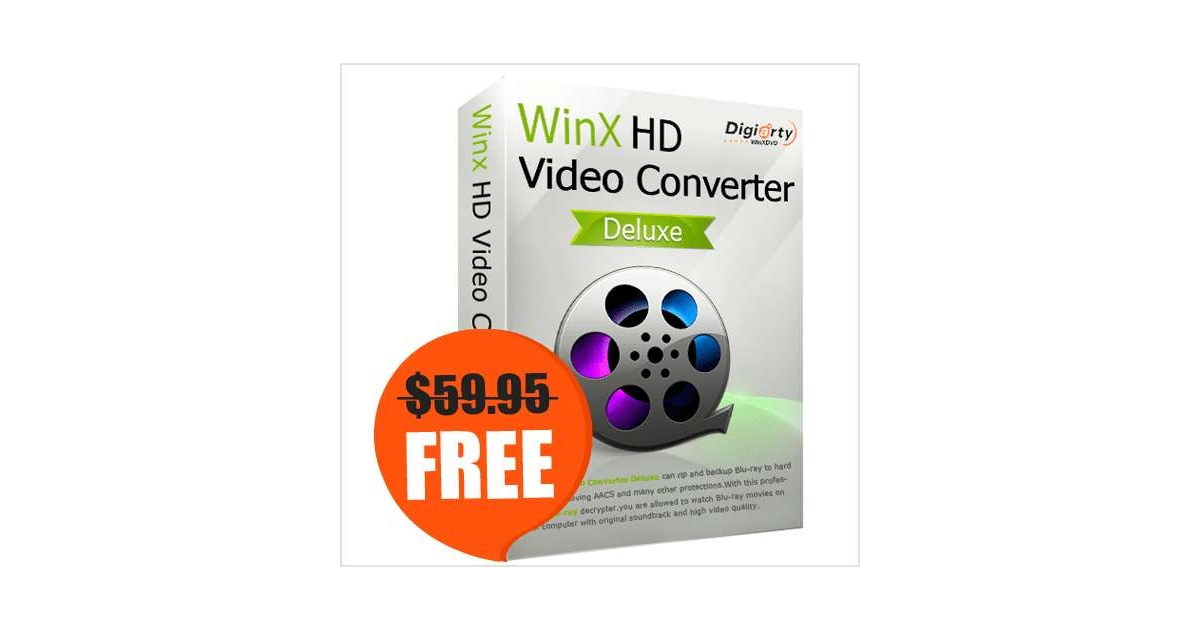 WinX HD Video Converter Deluxe for Win/Mac ($59.95 Value) FREE for a Limited Time, Free Digiarty MacXDVD eKit