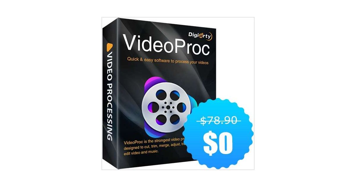 VideoProc - An Easy Video Processing Software for Win/Mac ($78.90 Value) Free for a Limited Time, Free Digiarty WinXDVD Kit