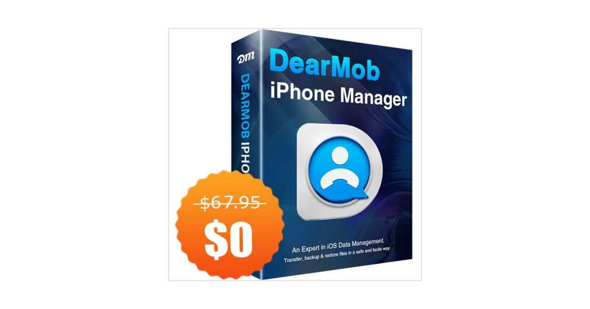 DearMob iPhone Manager for Win/Mac ($67.95 Value) FREE for a Limited Time, Free Digiarty WinXDVD Kit