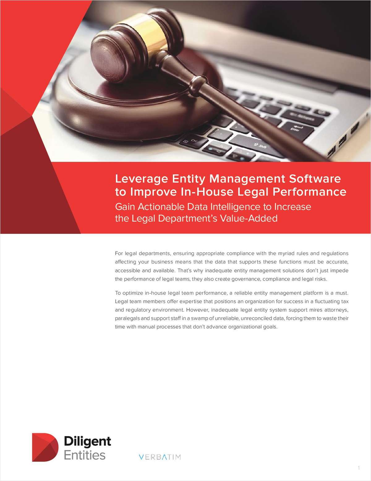 Leverage Entity Management Software to Improve In-House Legal Performance