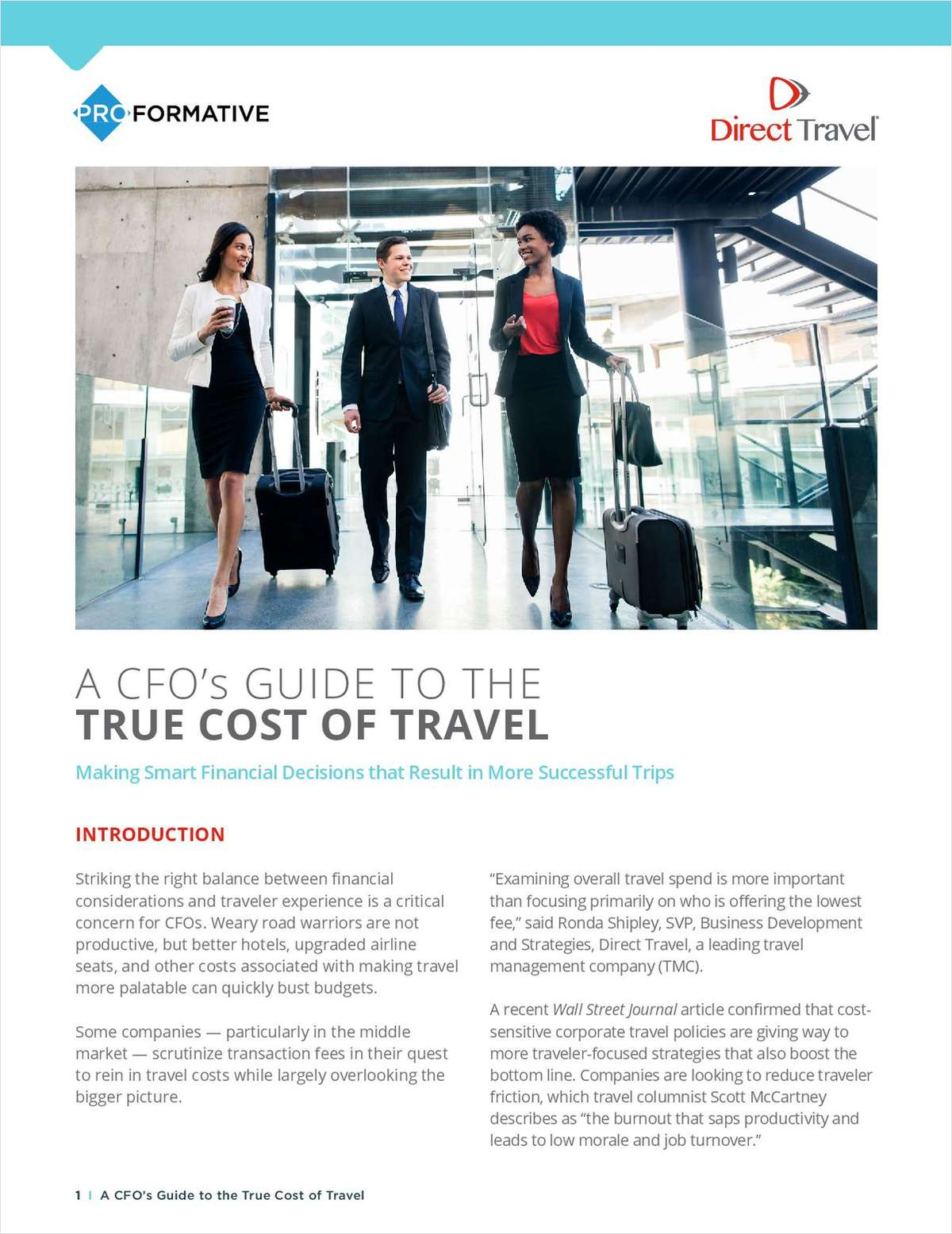 A CFO's GUIDE TO THE  TRUE COST OF TRAVEL