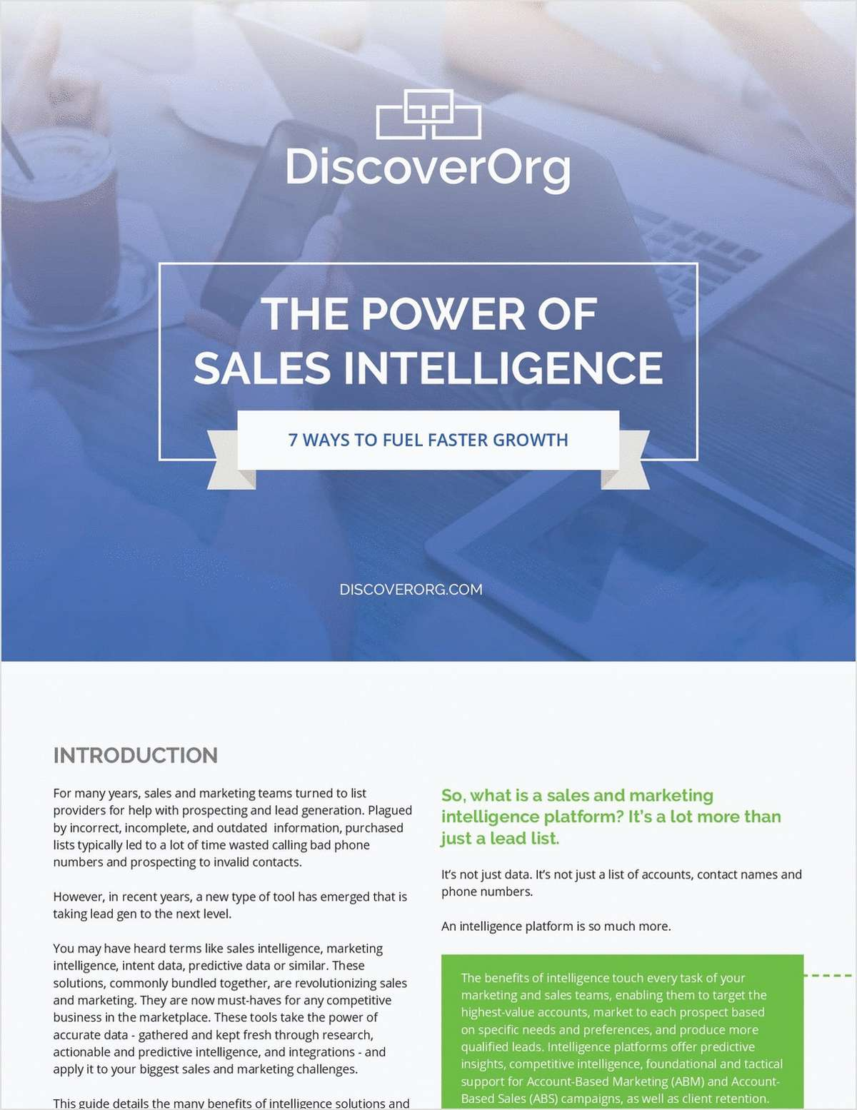 The Power of Sales Intelligence: 7 Ways to Fuel Faster Growth
