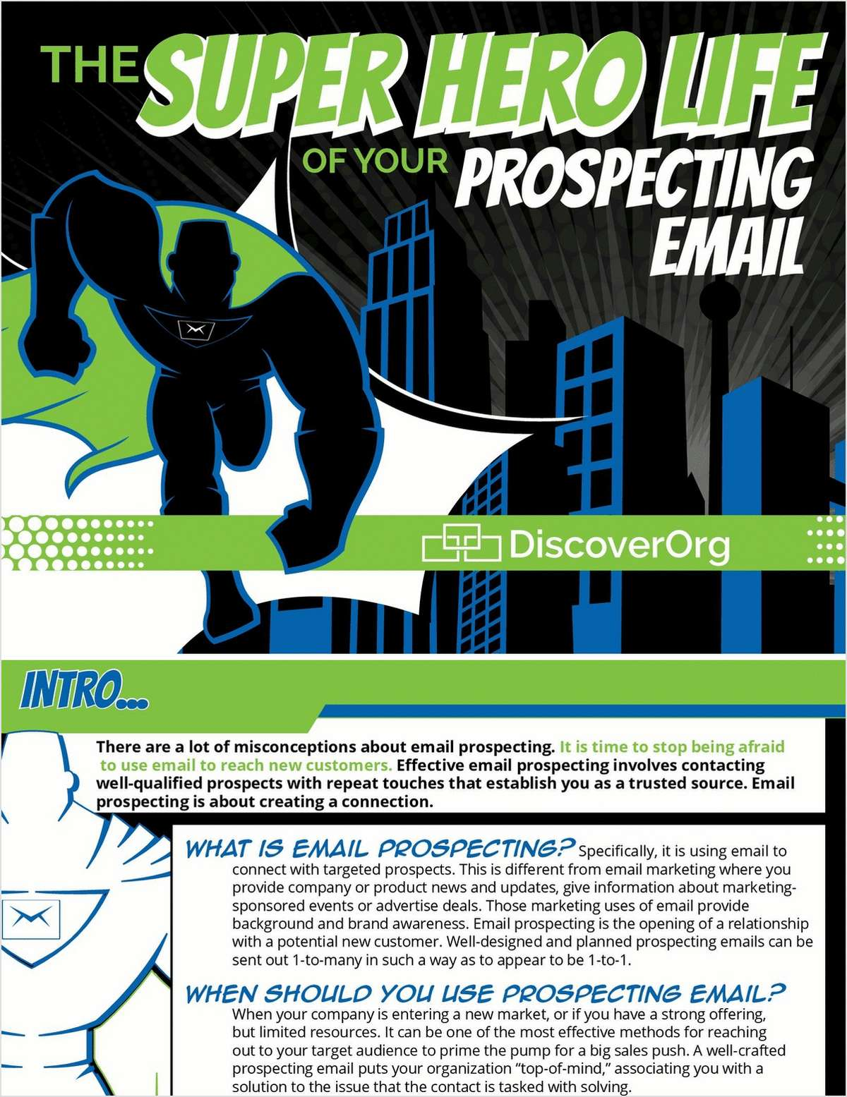 The Superhero Life of Your Prospecting Email