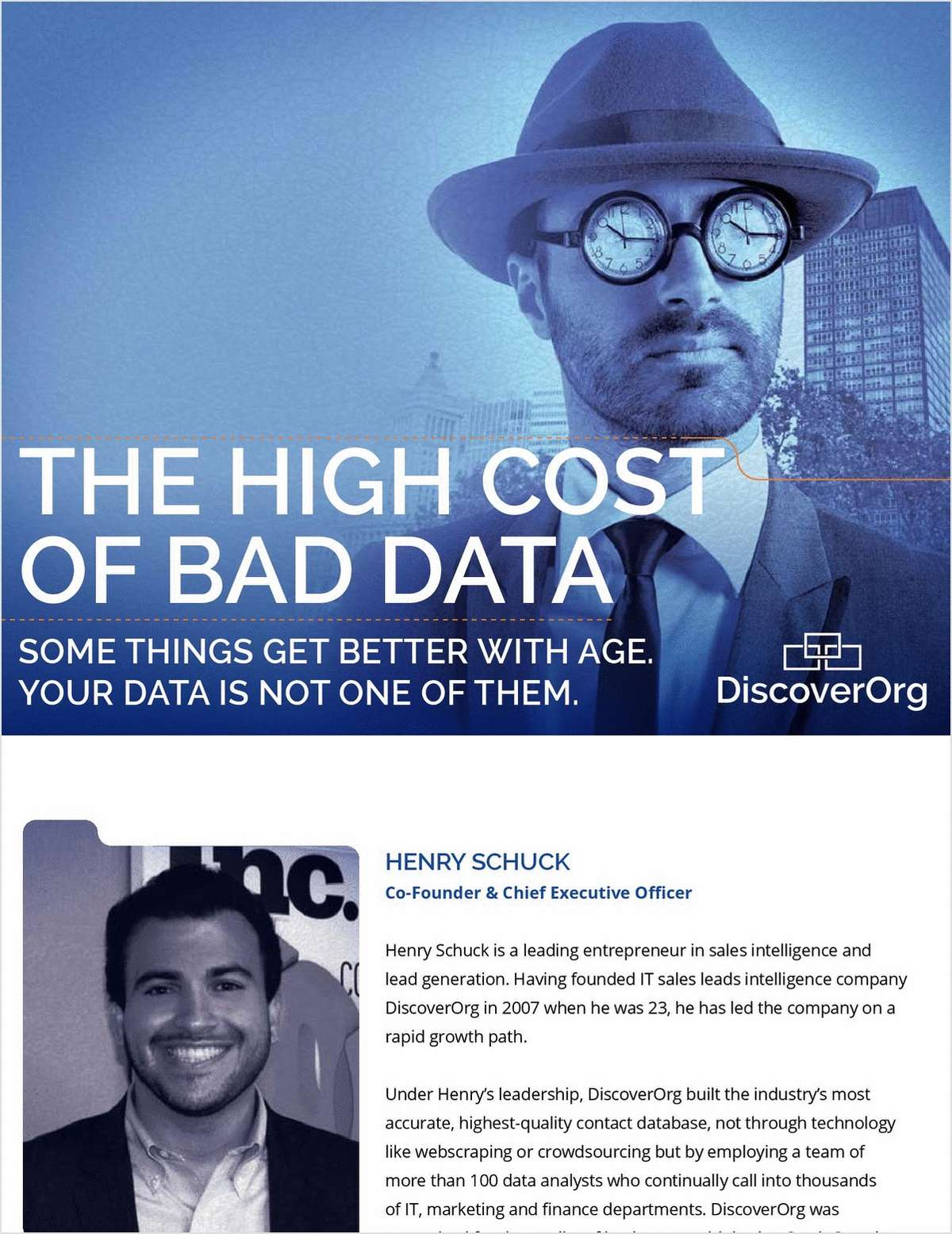 The High Cost of Bad Sales and Marketing Data