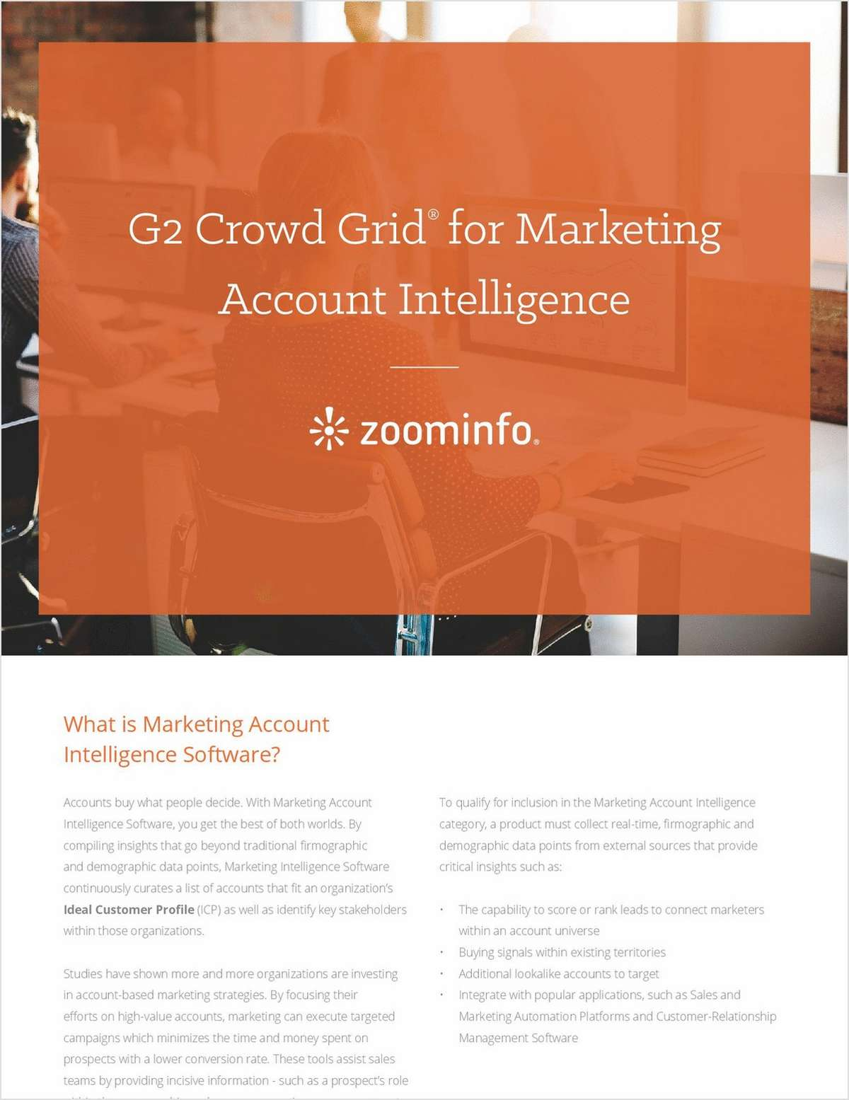 G2 Crowd Grid® for Marketing Account Intelligence