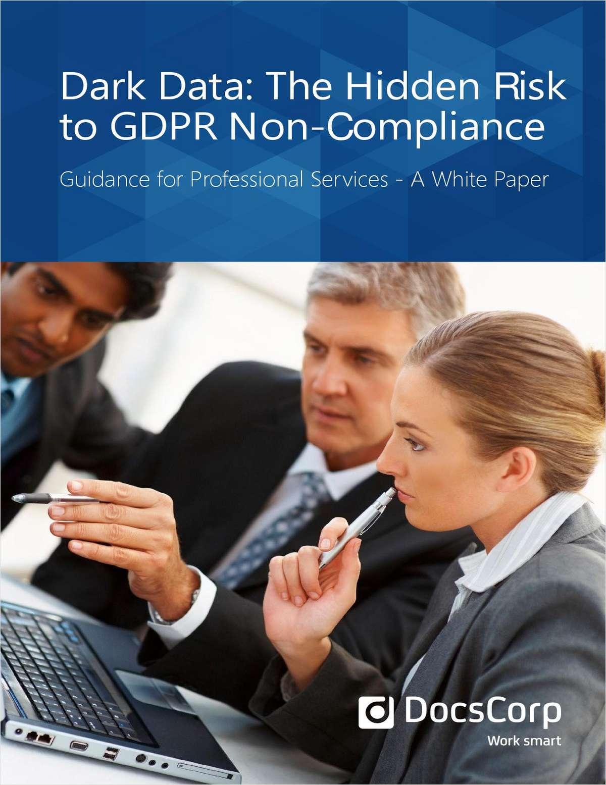 Dark Data: The Hidden Risk to GDPR Non-Compliance