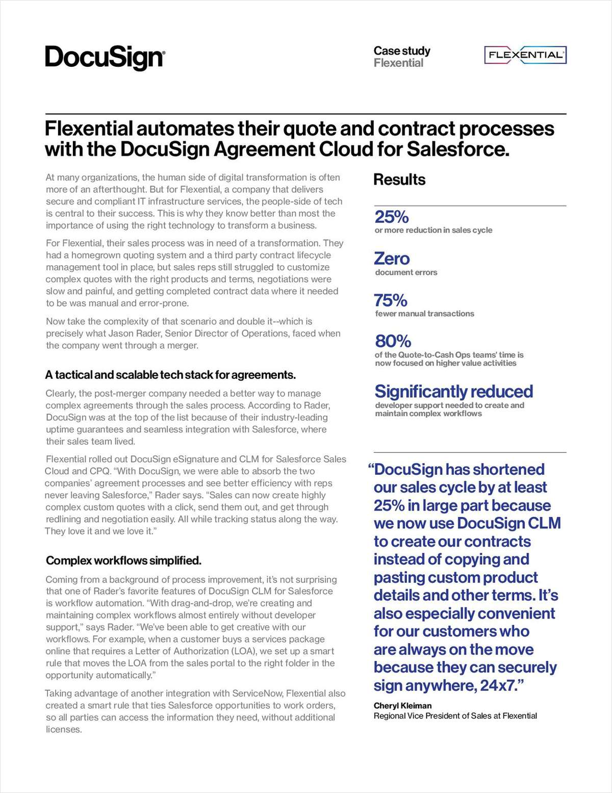 Contract Automation: Flexential's Key to Shortening the Sales Cycle by 25%