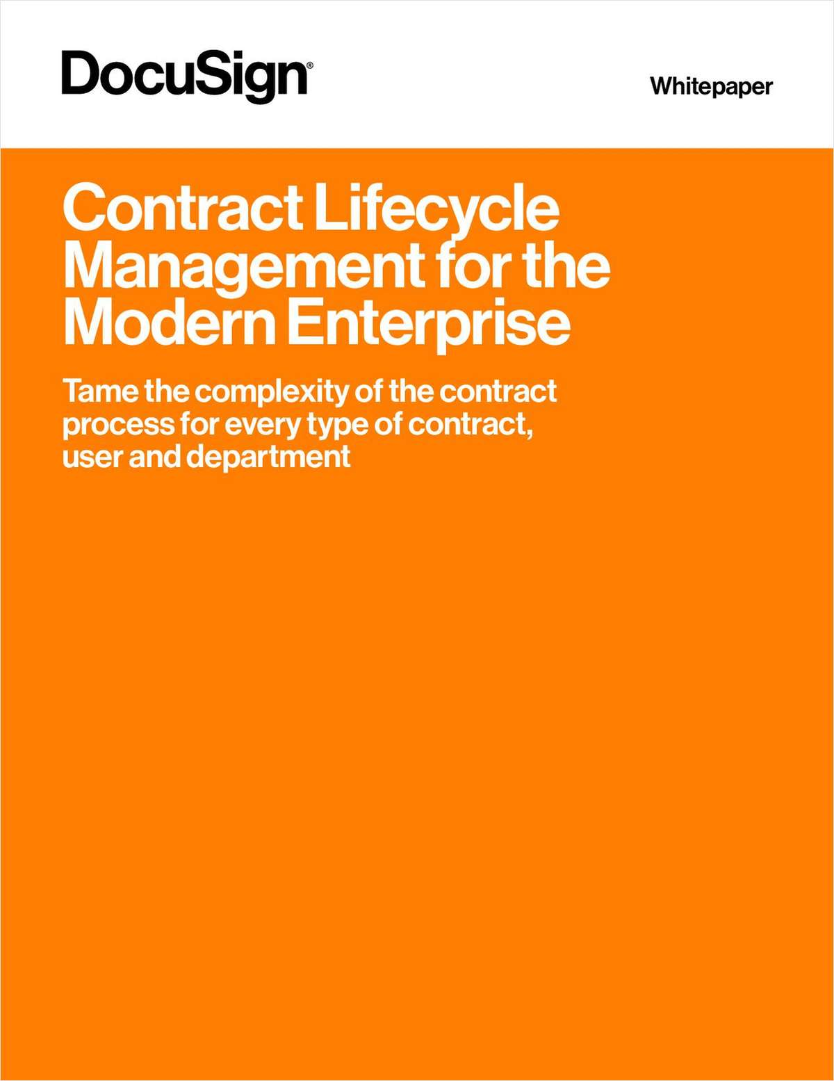 Contract Lifecycle Management for the Modern Enterprise
