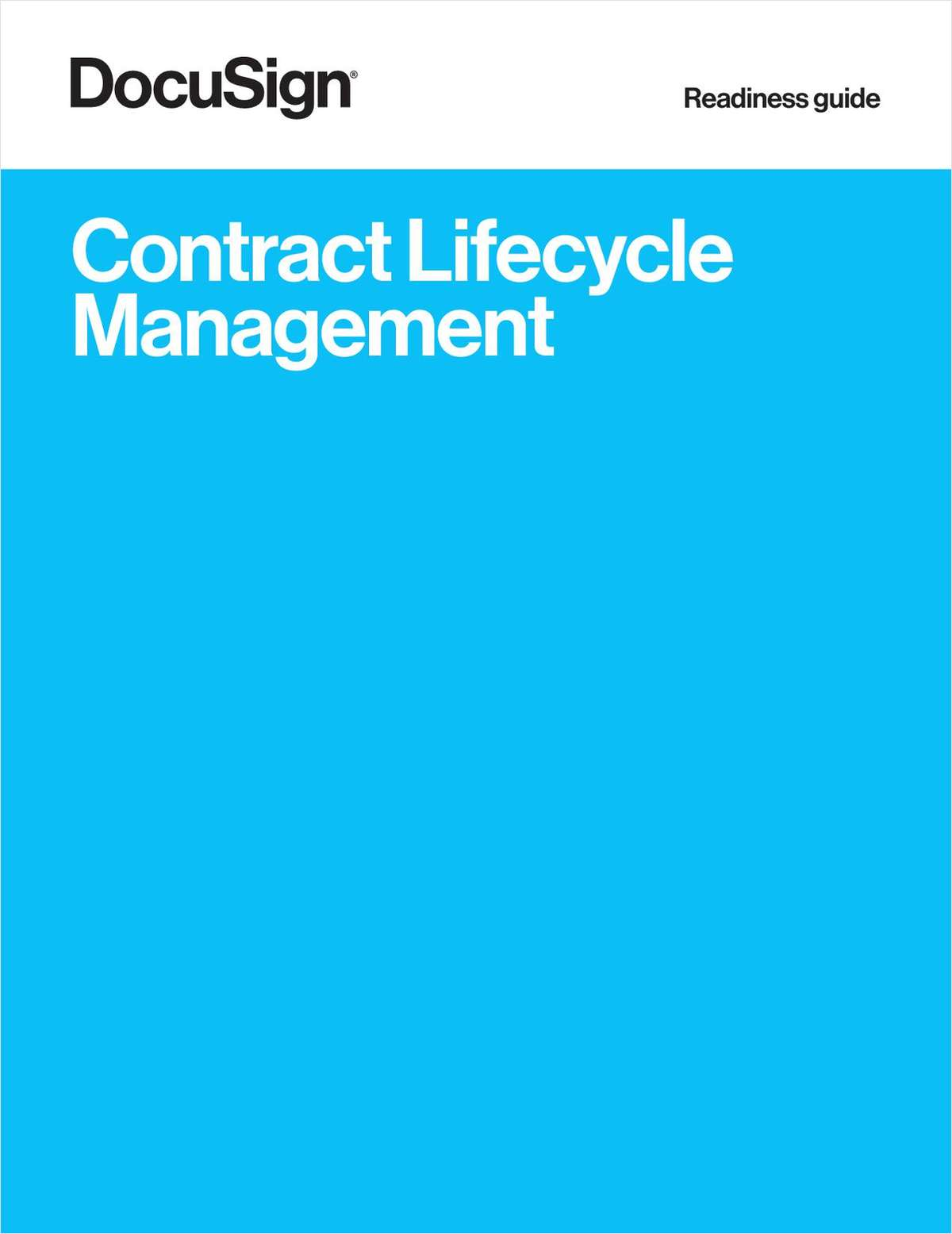 Readiness Guide: Contract Lifecycle Management