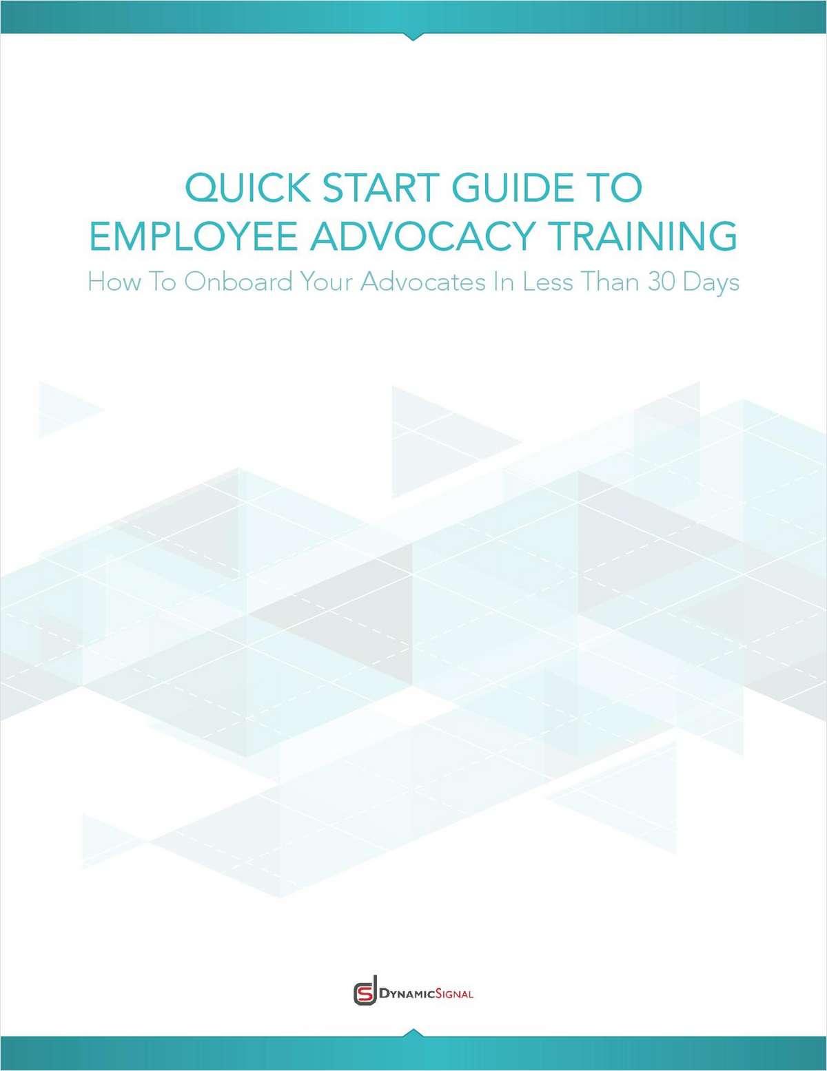 Quick Start Guide: Employee Advocacy Training