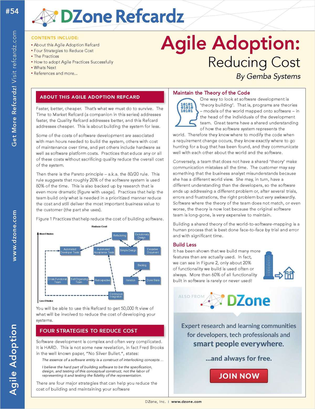 The Essential Agile Adoption Cheat Sheet: Reducing Cost