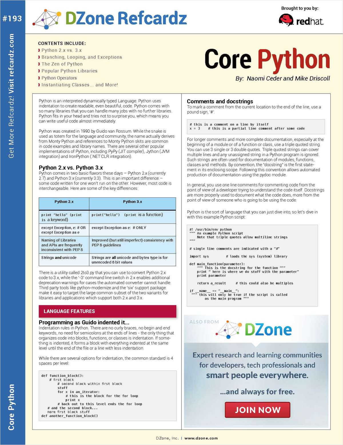The Essential Core Python Cheat Sheet
