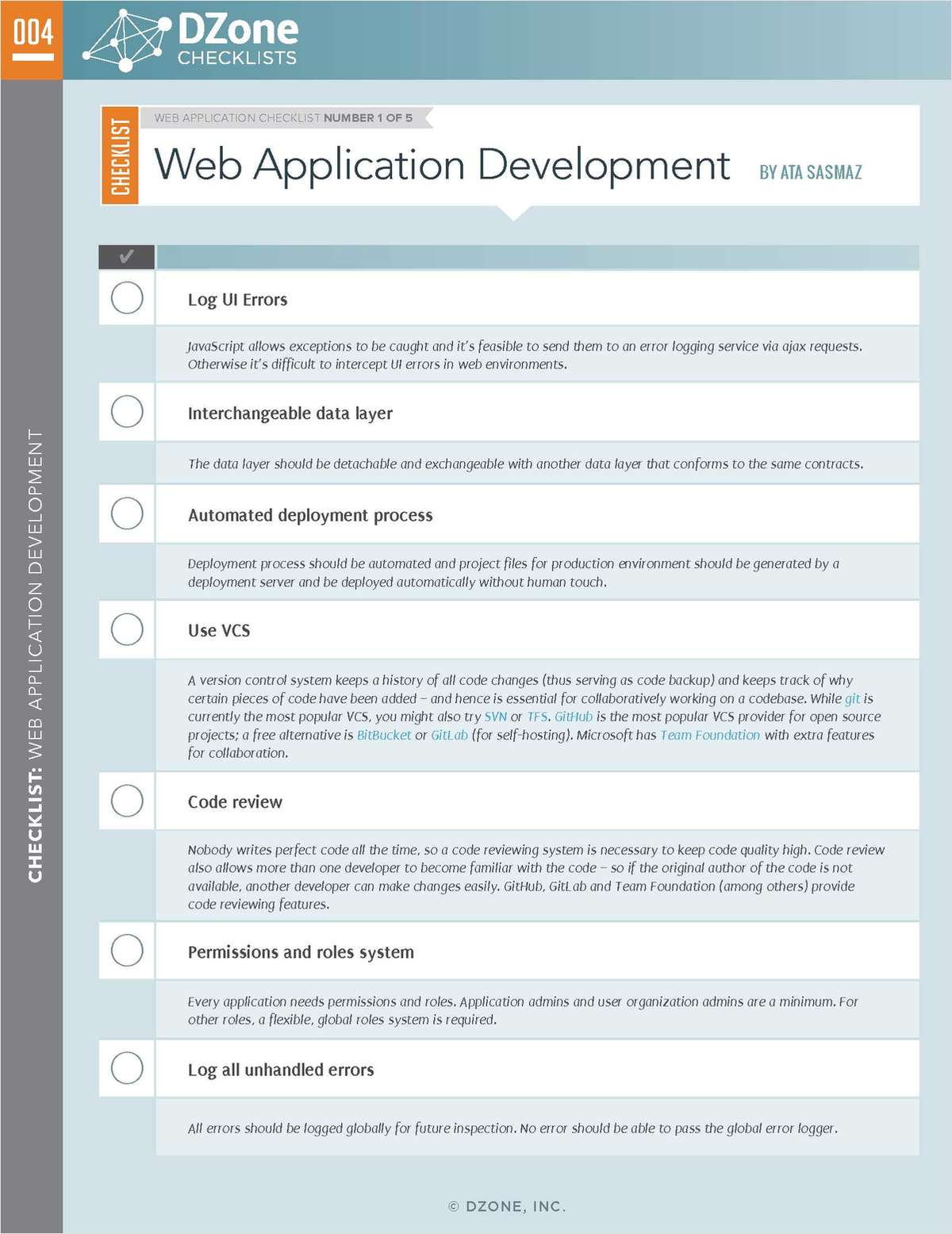 Web Application: Your Essential Checklist Bundle