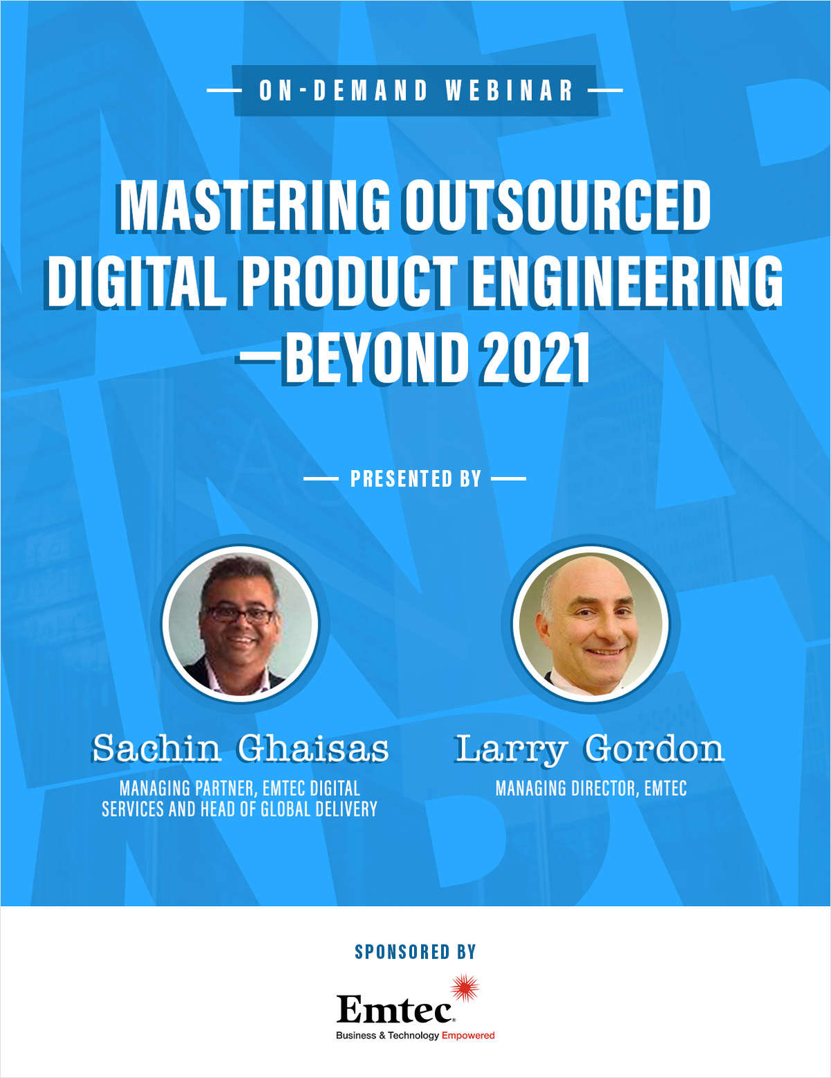 Mastering outsourced digital product engineering -- Beyond 2021