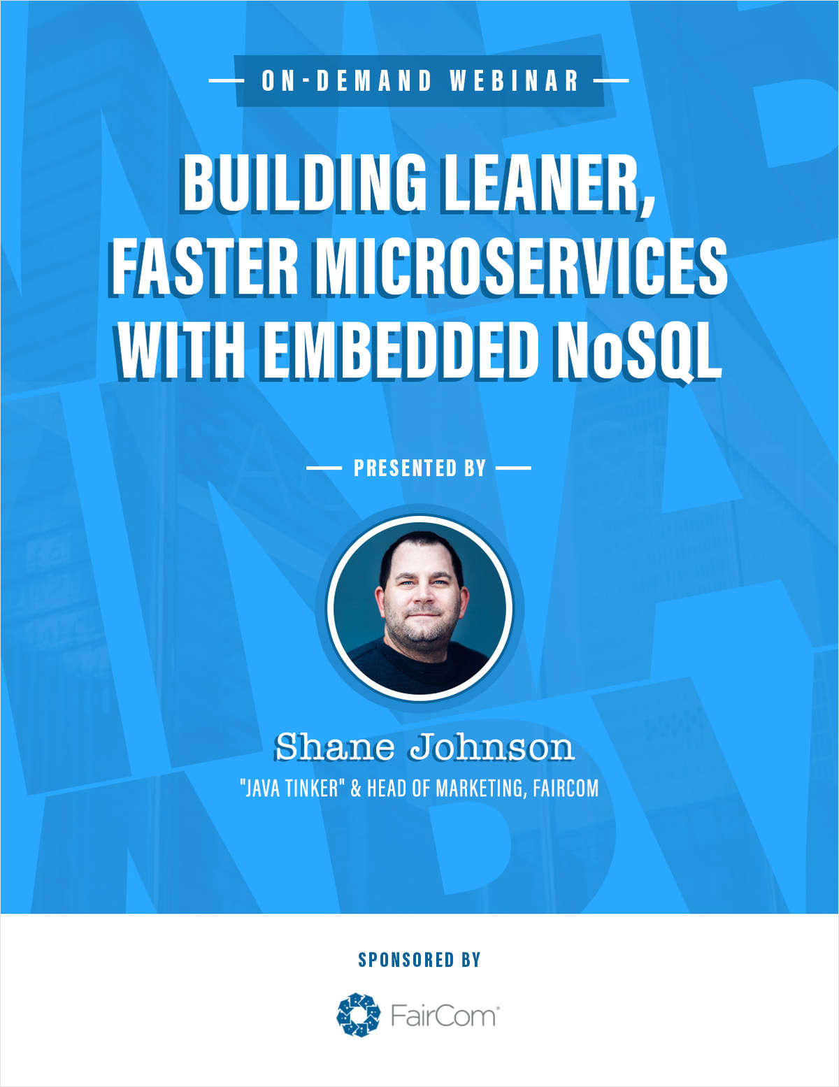 Building leaner, faster microservices with embedded NoSQL