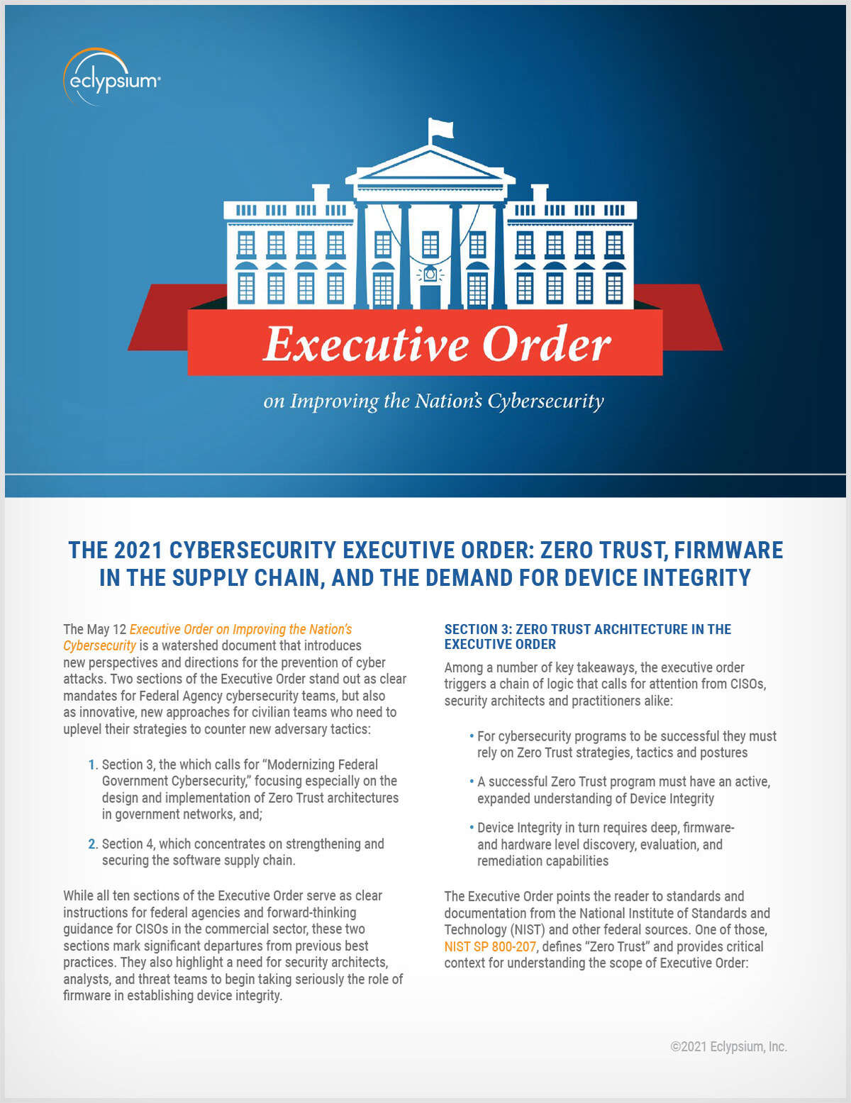 The 2021 Cybersecurity Executive Order
