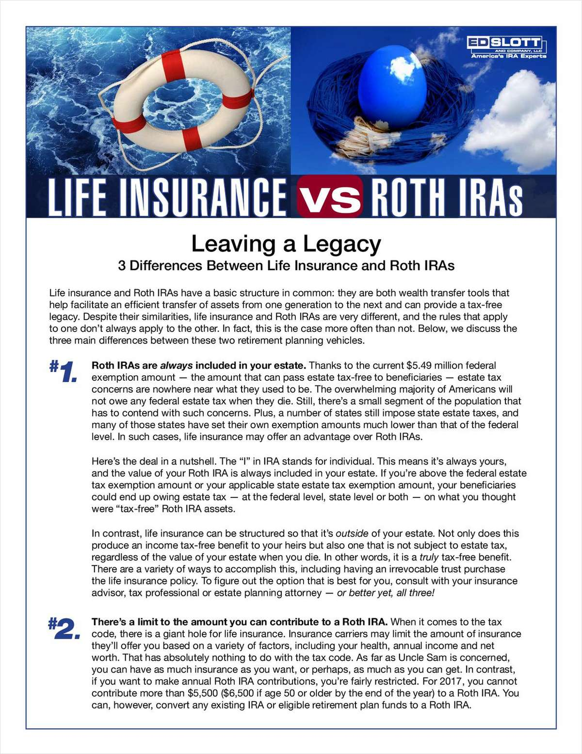 Life Insurance vs Roth IRAs - Know the Difference