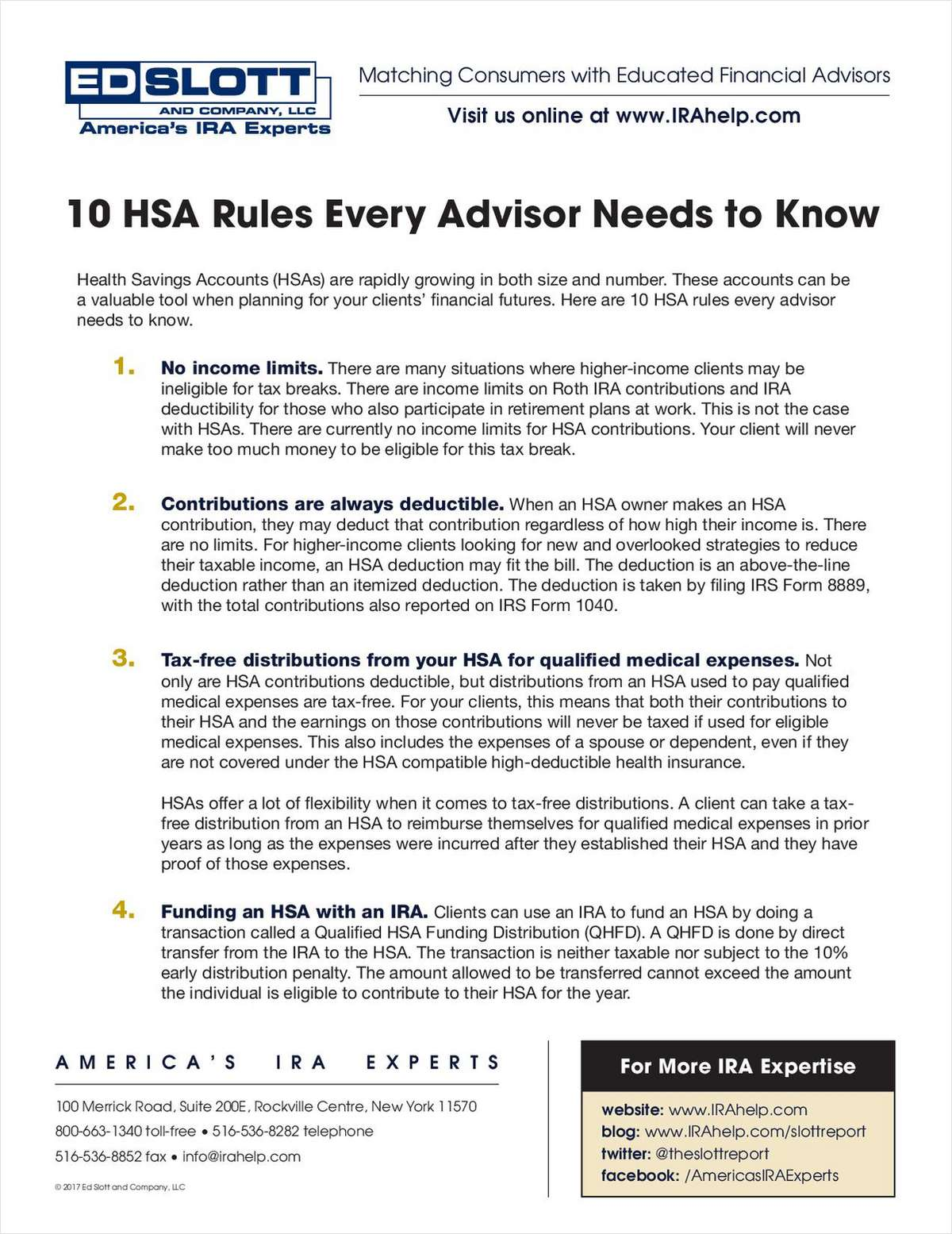 10 HSA Rules Every Advisor Needs to Know