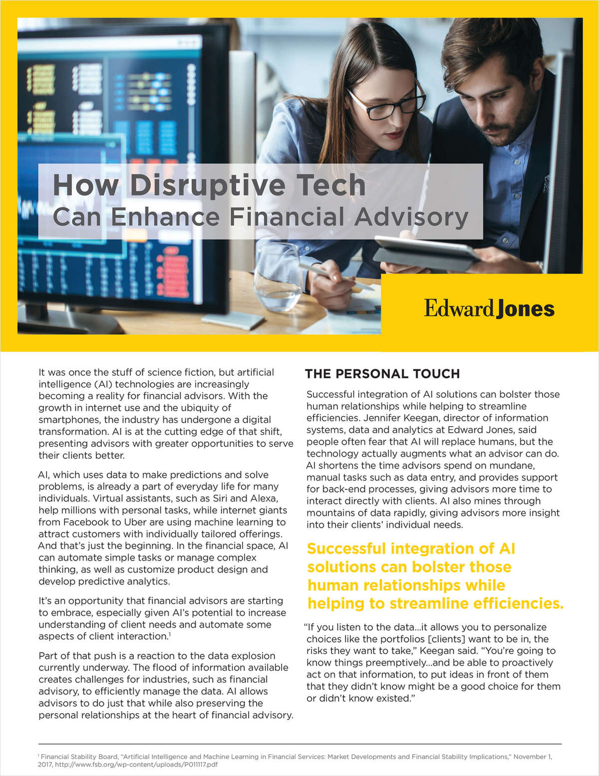How Disruptive Tech Can Enhance Financial Advisory