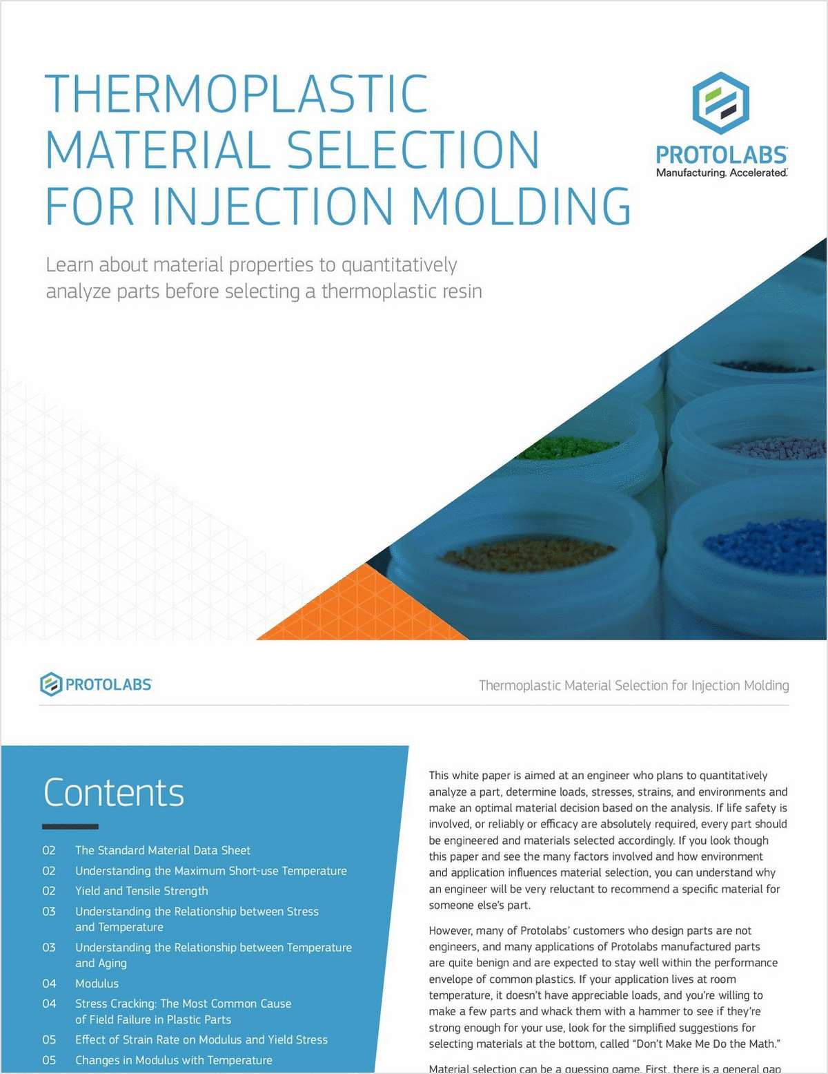 Thermoplastic Material Selection for Injection Molding