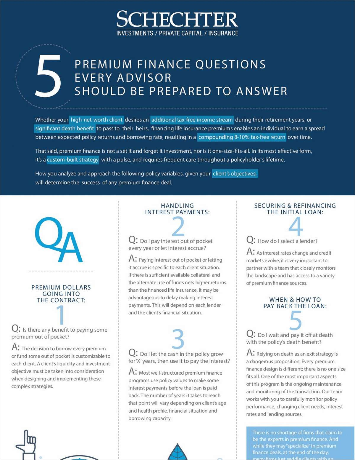 5 Premium Finance Questions Every Advisor Should Be Prepared to Answer