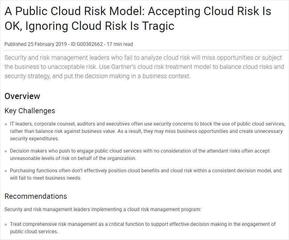 What You Should Know About Cloud Risk