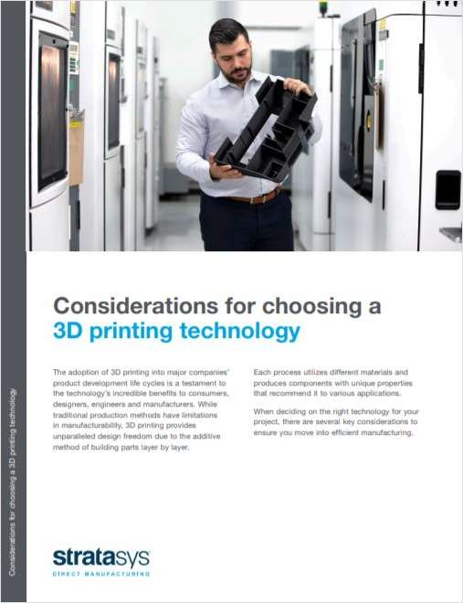 Considerations for Choosing a 3D Printing Technology