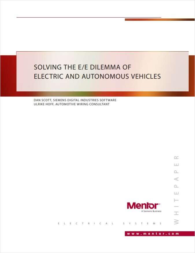 Solving the E/E Dilemma of Electric and Autonomous Vehicles