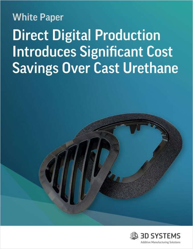 Direct Digital Production Introduces Significant Cost Savings Over Cast Urethane