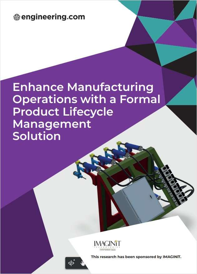 Enhance Manufacturing Operations with a Formal Product Lifecycle Management Solution