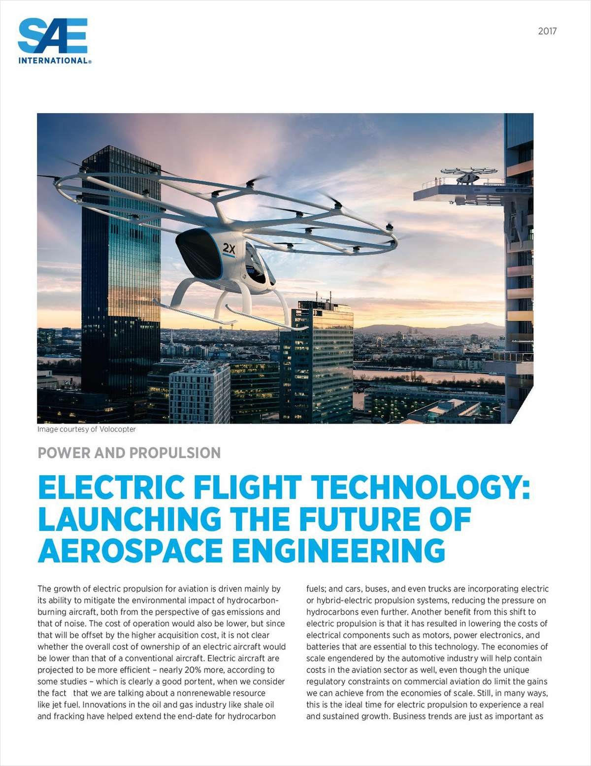 Future Of Aerospace Engineering : Electric flight technology launching the future of