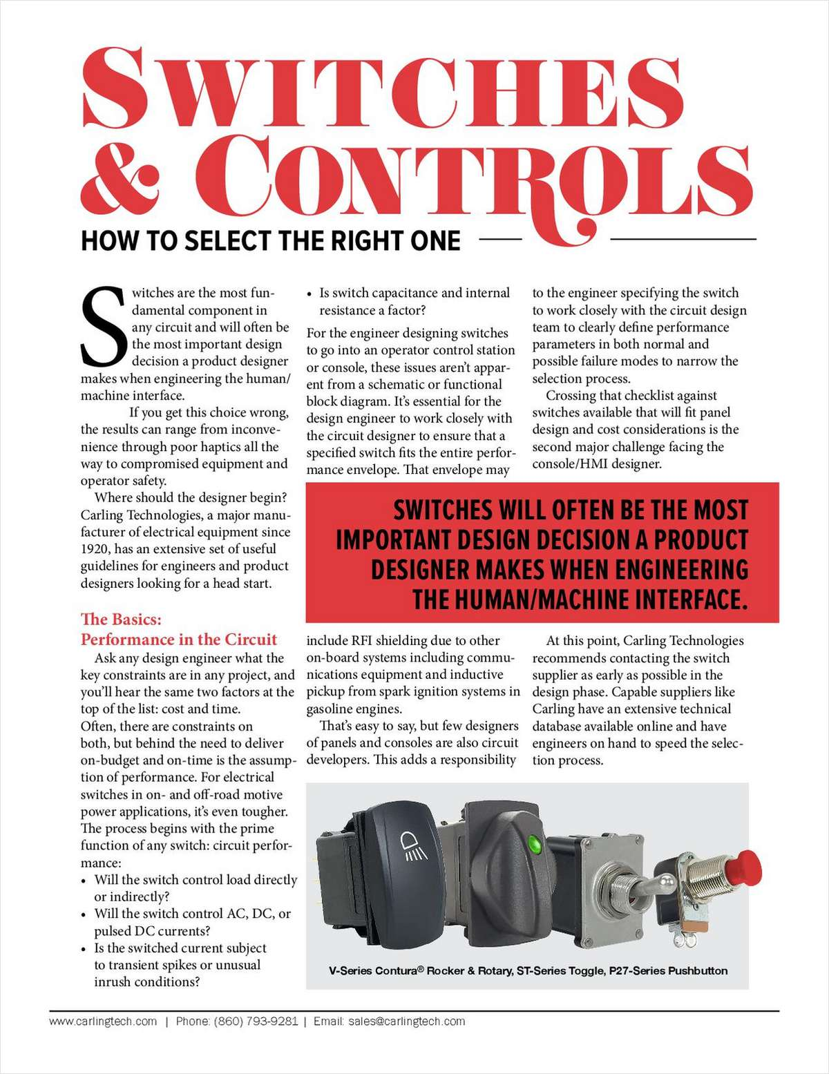 Switches and Controls: How to Select the Right One