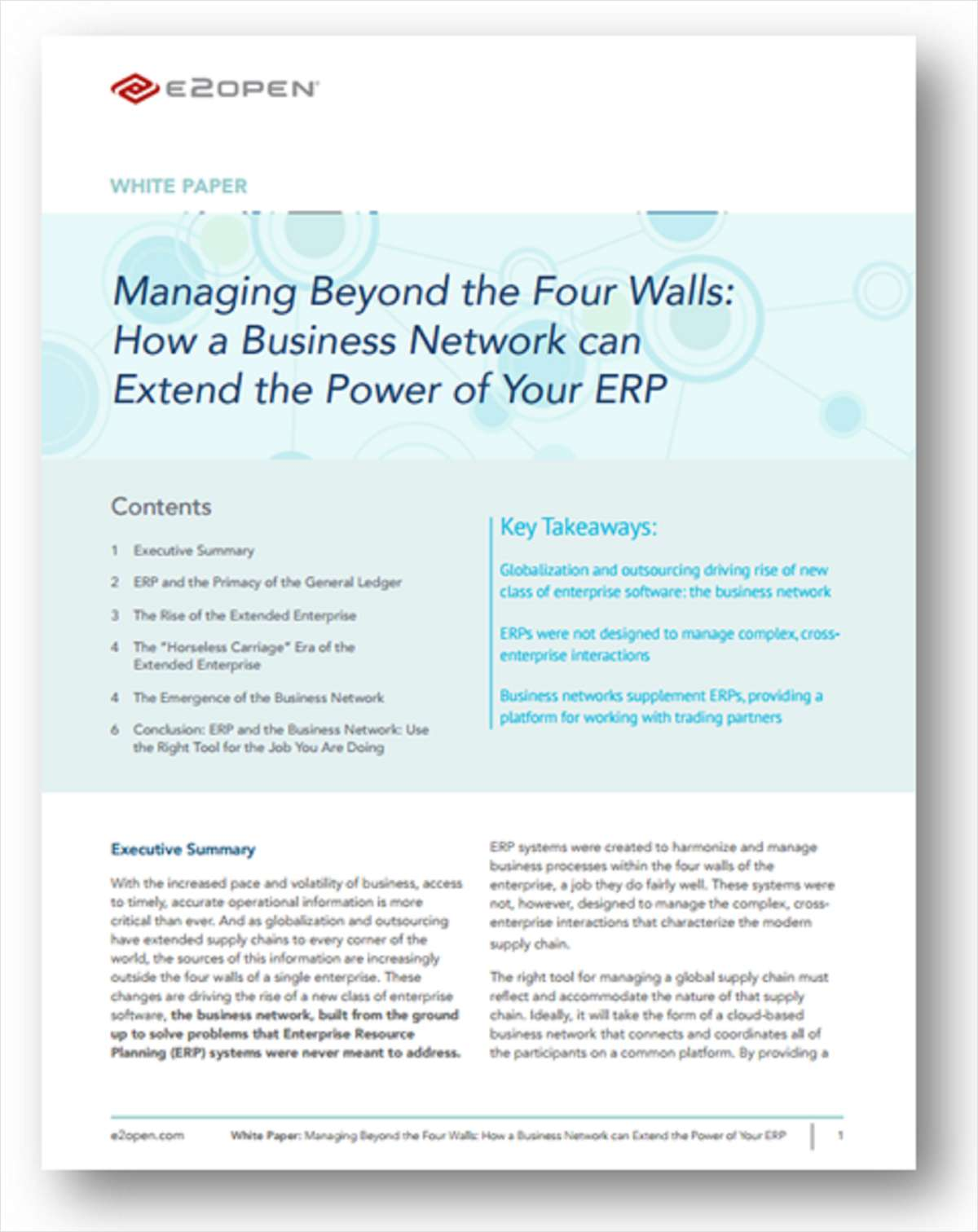 Managing Beyond the Four Walls: How a Business Network can Extend the Power of Your ERP