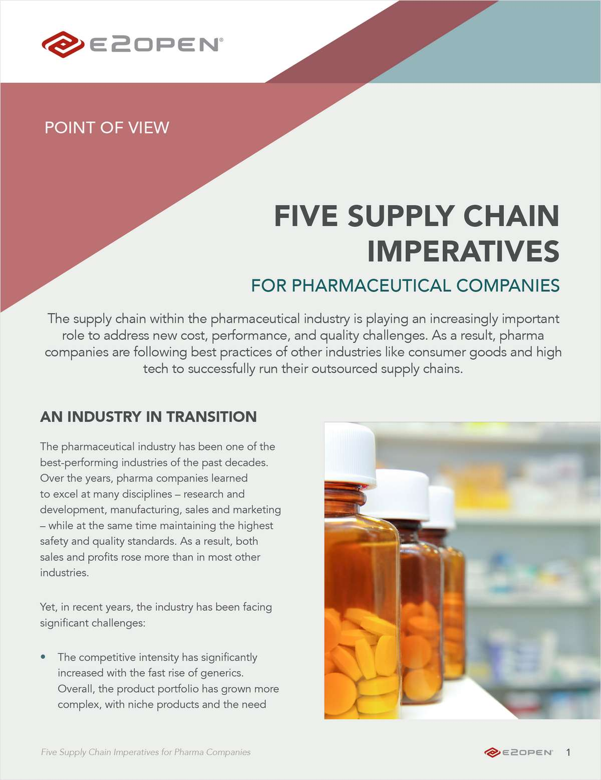 Five Supply Chain Imperatives for Pharmaceutical Companies