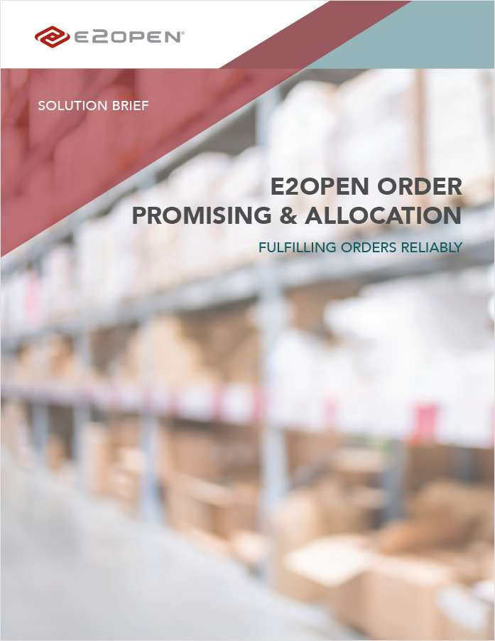 Order Promising & Allocation: Fulfilling Orders Reliably