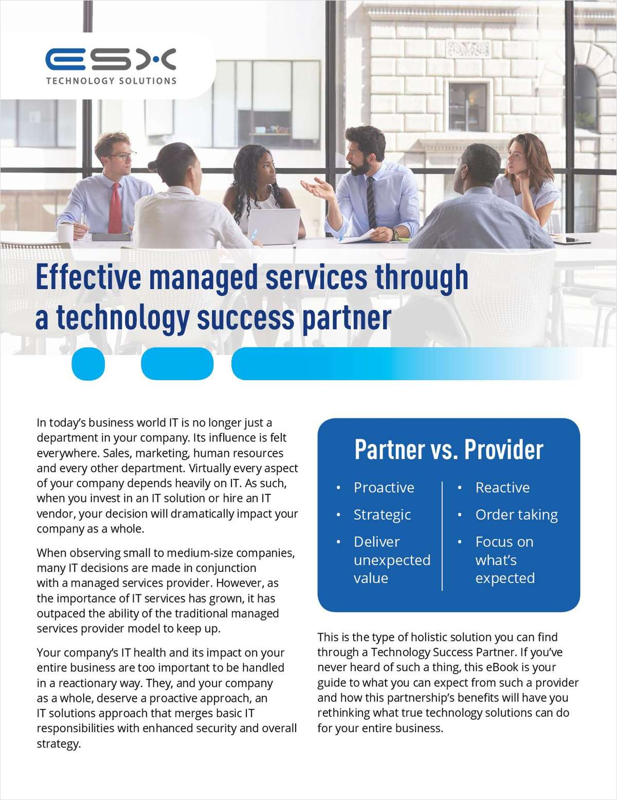 Effective Managed Services Through a Technology Success Partner