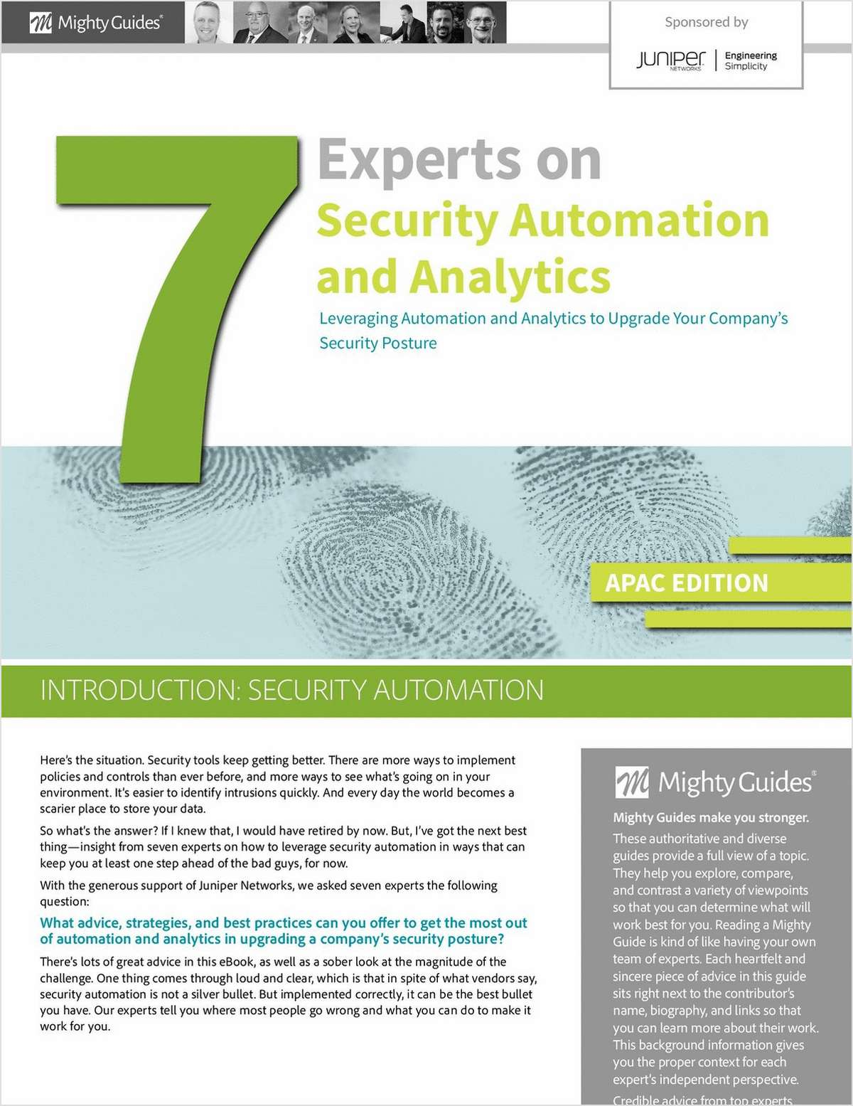 Security Automation & Analytics -- Advice from 7 Cybersecurity Experts