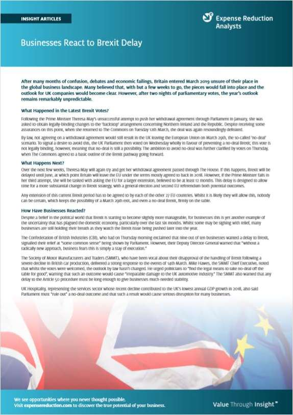 How will delaying Brexit impact your business?