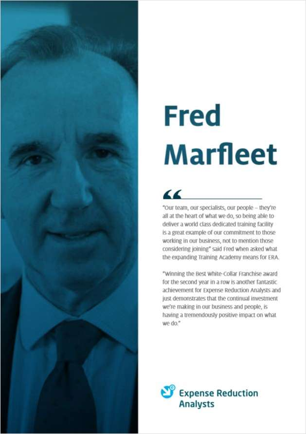 Fred Marfleet - Founder & Executive Chairman of Expense Reduction Analysts